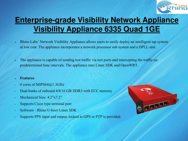 Enterprise-grade Visibility Network Appliance