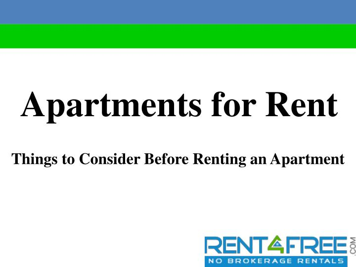 apartments for rent n.