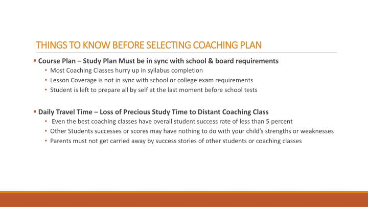 Things to know before selecting coaching plan1