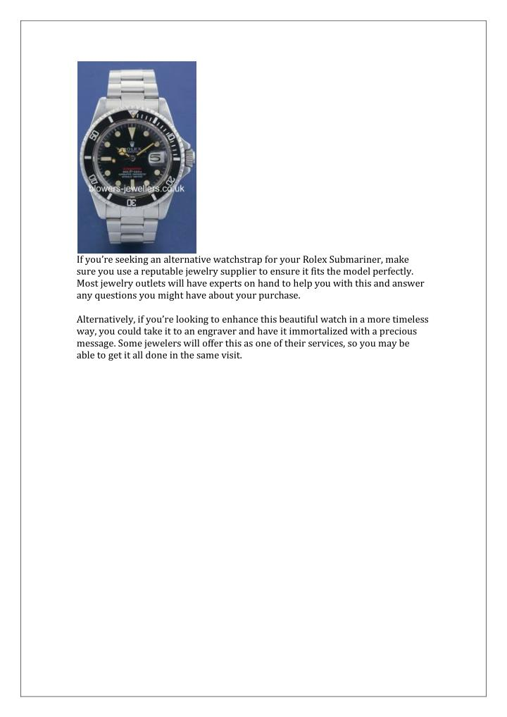 If you're seeking an alternative watchstrap for your Rolex Submariner, make