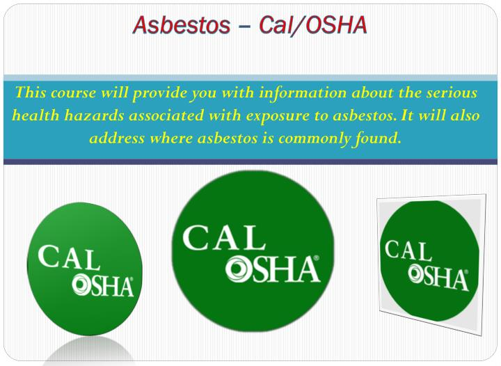 Asbestos – Cal/OSHA