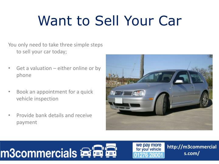 Want to sell your car
