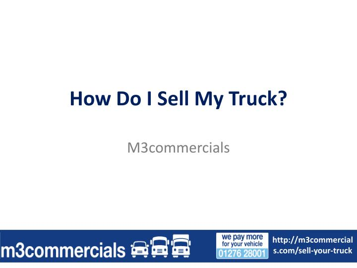 how do i sell my truck n.