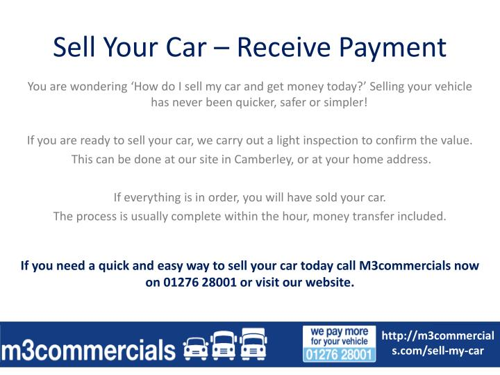 Sell Your Car – Receive Payment