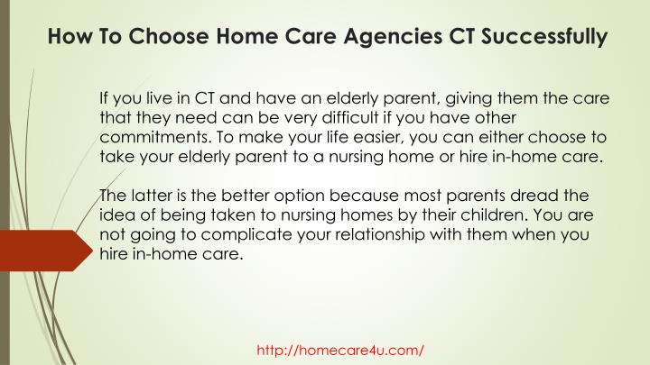 How to choose home care agencies ct successfully1