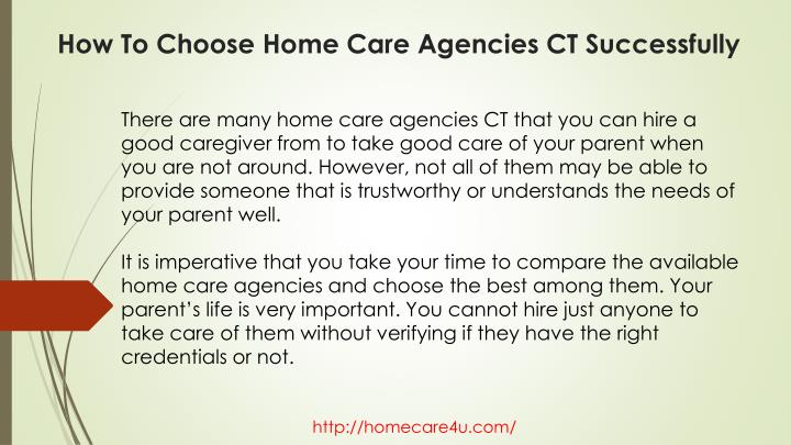 How to choose home care agencies ct successfully2