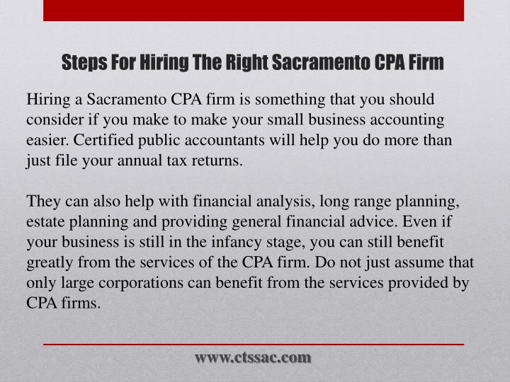 Steps for hiring the right sacramento cpa firm1