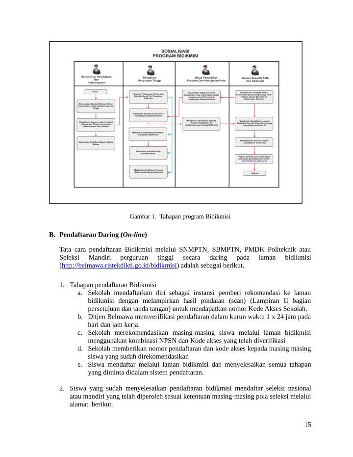 Gambar 1.  Tahapan program Bidikmisi