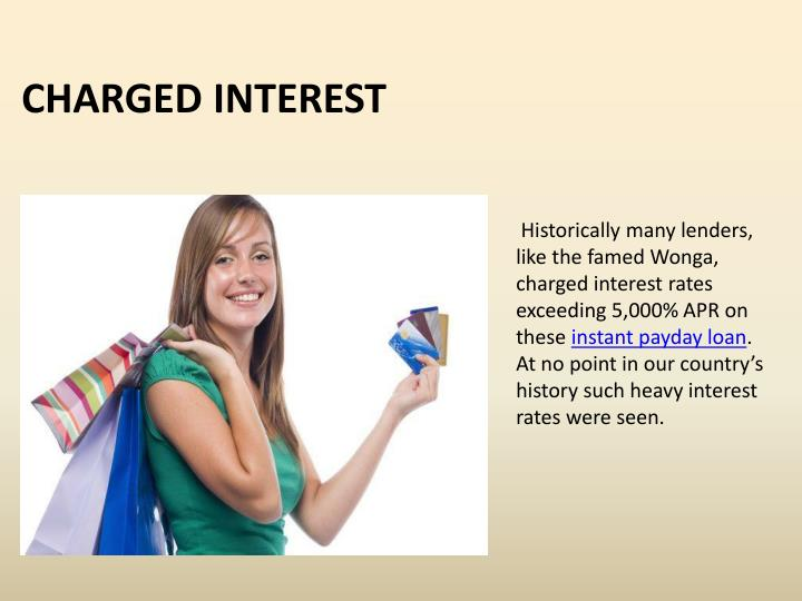 Charged interest