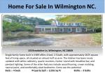 home for sale in wilmington nc
