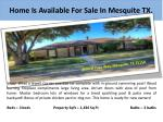 home is available for sale in mesquite tx