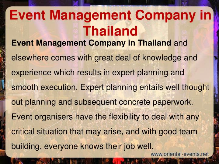 Event Management Company in Thailand