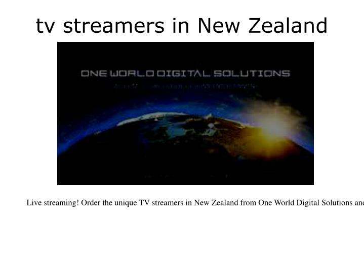 tv streamers in new zealand n.