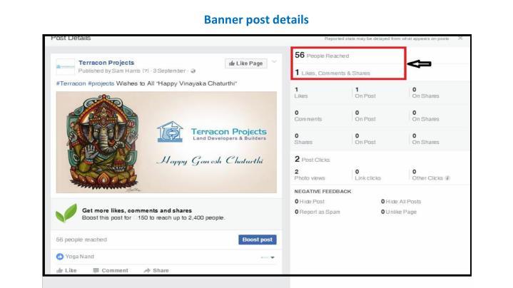 Banner post details
