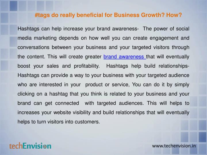 #tags do really beneficial for Business Growth? How?