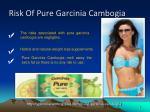 risk of pure garcinia cambogia