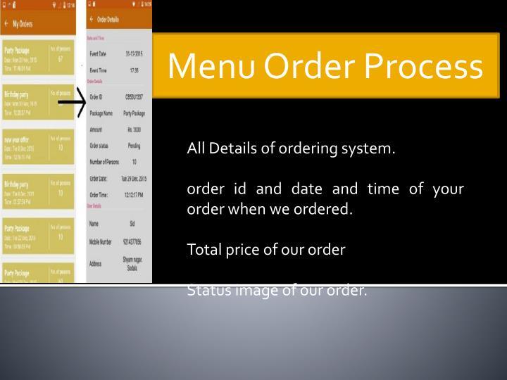 Menu Order Process