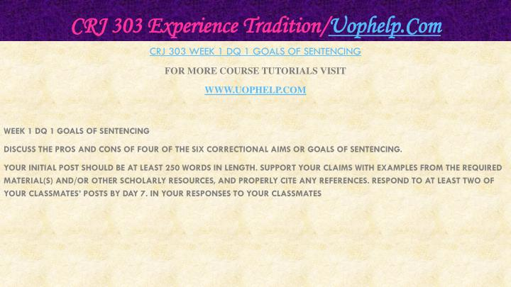 Crj 303 experience tradition uophelp com2