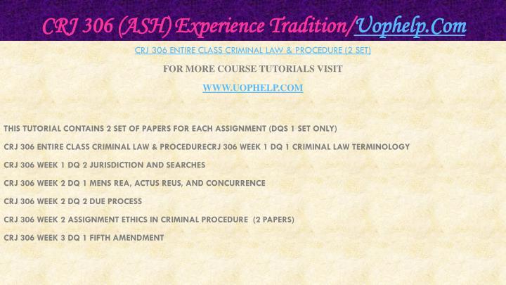 Crj 306 ash experience tradition uophelp com1