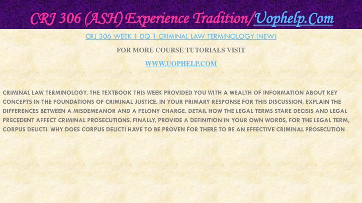 Crj 306 ash experience tradition uophelp com2