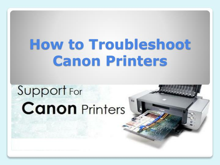 how to troubleshoot canon printers