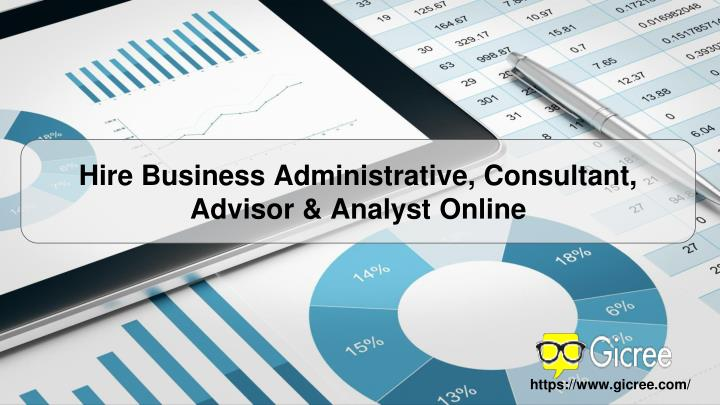 Hire Business Administrative, Consultant, Advisor & Analyst Online