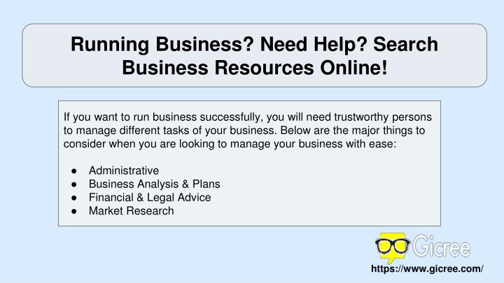 Running Business? Need Help? Search Business Resources Online!