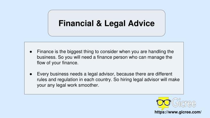 Financial & Legal Advice