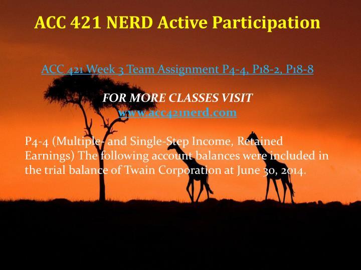 ACC 421 NERD Active Participation