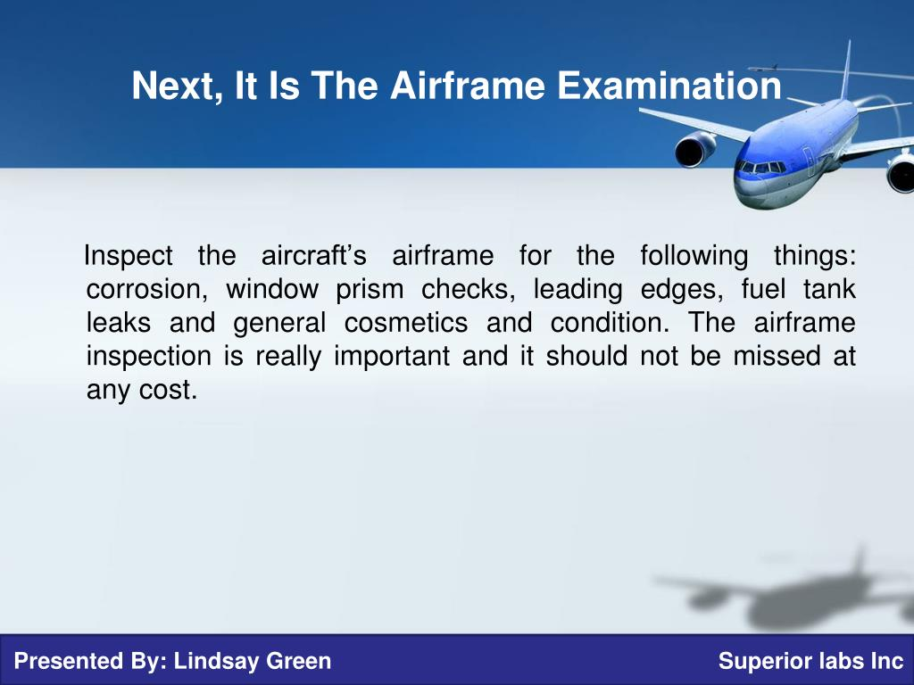 PPT - The Guide to Pre-Purchase Aircraft Inspections ...