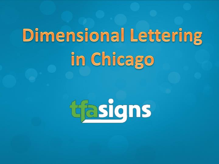 Dimensional Lettering in Chicago