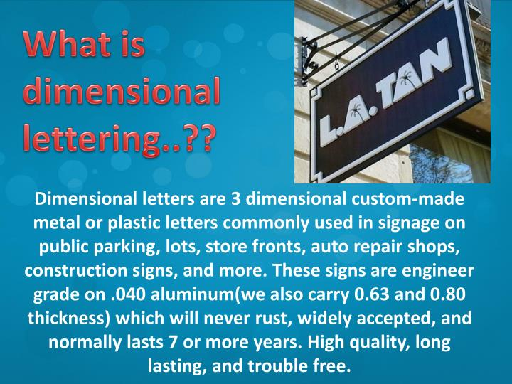 What is dimensional lettering..??