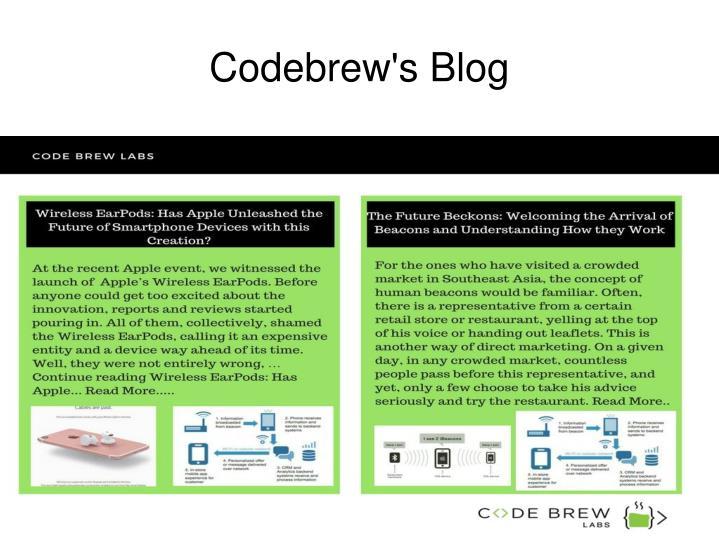 Codebrew's Blog