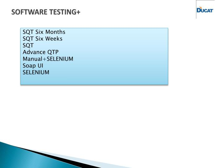 SOFTWARE TESTING+