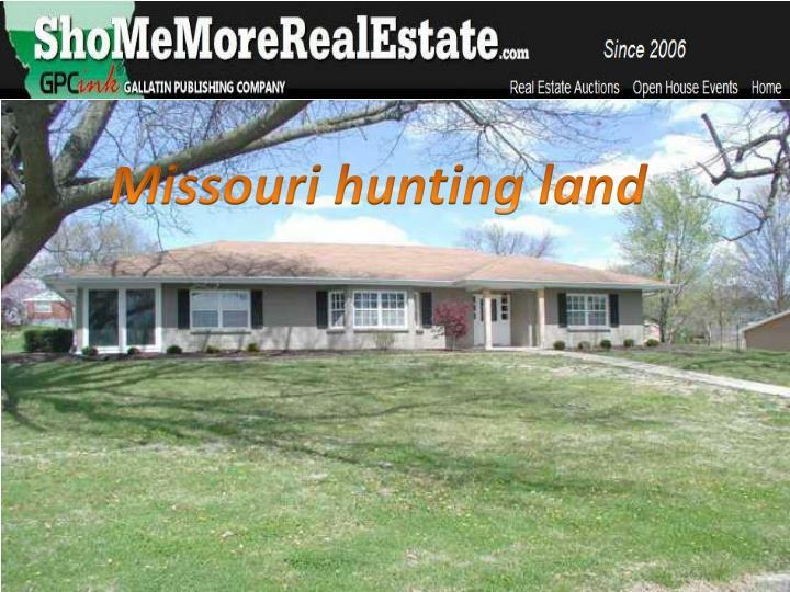 Missouri hunting land
