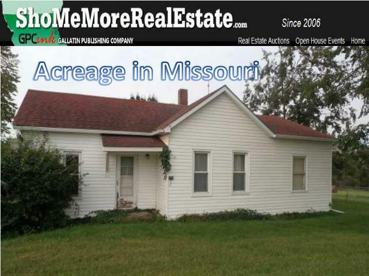 Acreage in Missouri