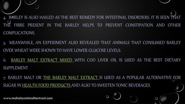 4.  Barley