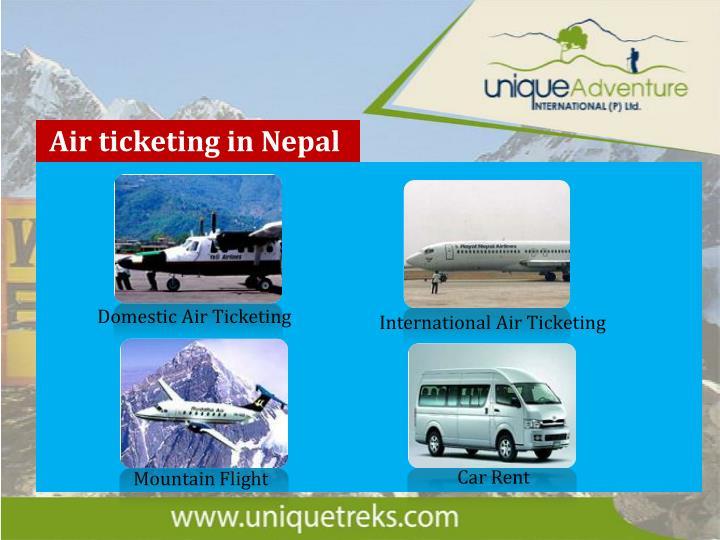 Air ticketing in Nepal