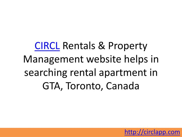 Circl rentals property management website helps in searching rental apartment in gta toronto canada