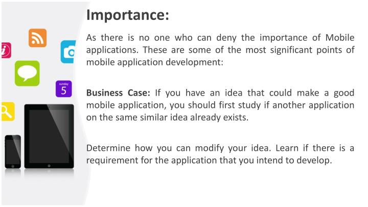 Importance: