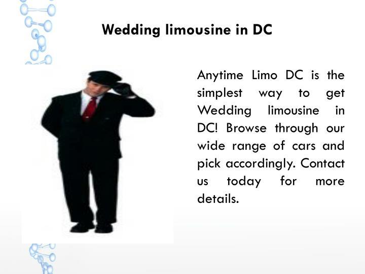 Wedding limousine in DC