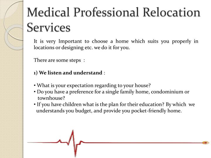 Medical professional relocation services