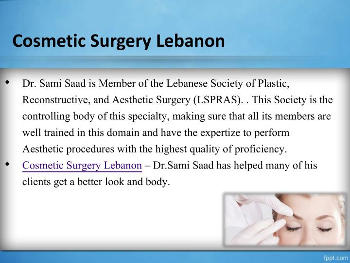 Cosmetic Surgery Lebanon