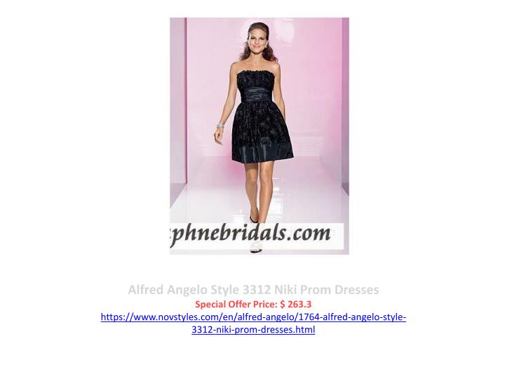 Alfred Angelo Style 3312 Niki Prom Dresses
