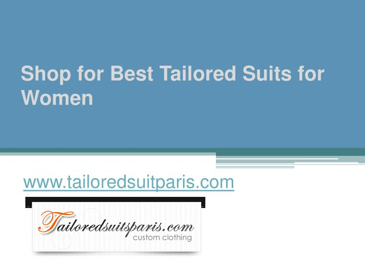 shop for best tailored suits for women n.
