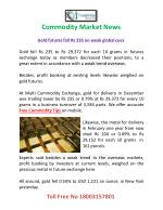 commodity market news
