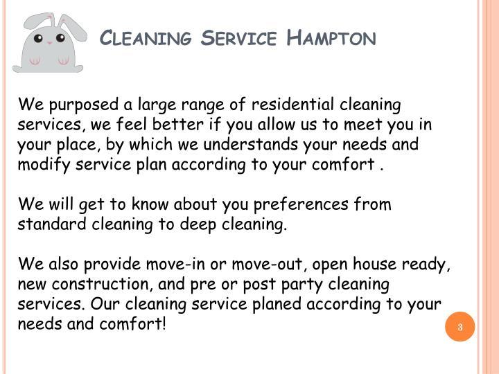 Cleaning service hampton