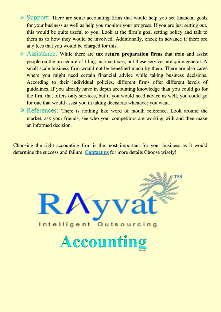 There are some accounting firms that would help you set financial goals