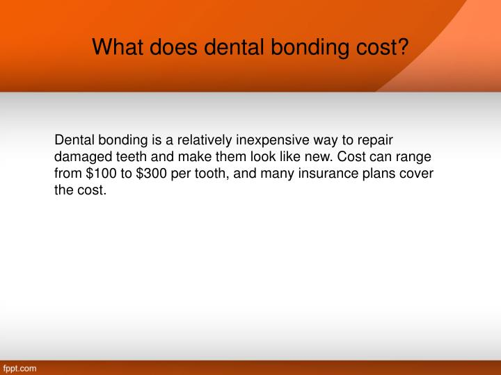 What does dental bonding cost?