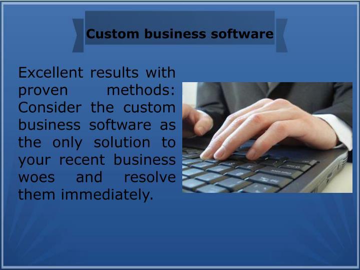 Custom business software
